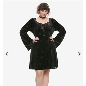 Disney Hocus Pocus Velvet Dress Hot Topic Plus 3X